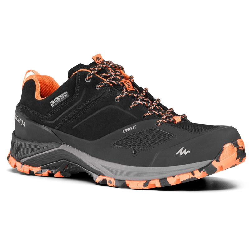 Men's waterproof mountain walking shoes - MH500 - Black