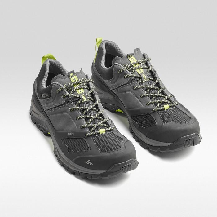 Men's mountain walking waterproof shoes MH500 - Grey