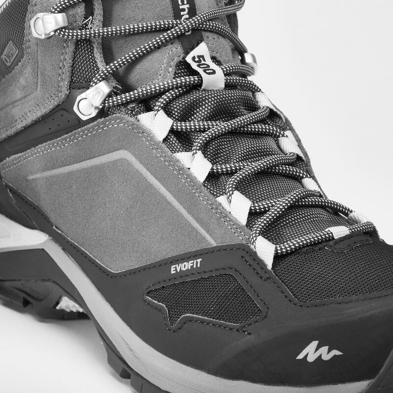 Bototos de senderismo en montaña Hombre MH500 Mid impermeables Gris