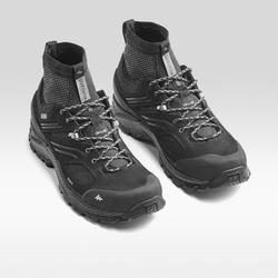 Men's waterproof mountain walking shoes MH900 - Black