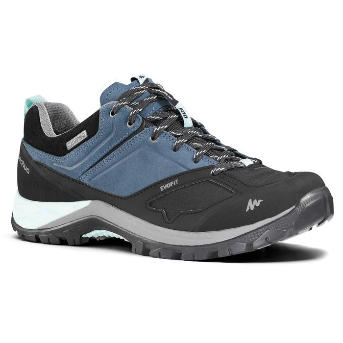 女款防水登山健行鞋MH500-藍色