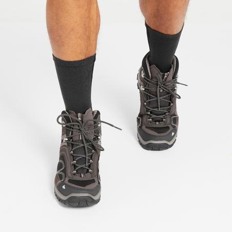 Chaussures de randonnée montagne homme MH100 Mid imperméable brun