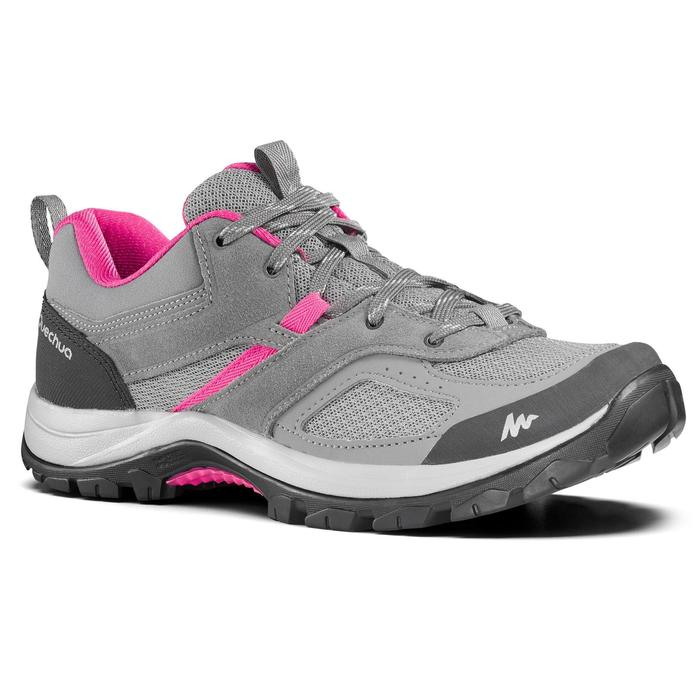 Women's - Mountain walking shoes - MH100 - Grey/Pink