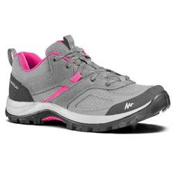 Women's mountain walking shoes MH100 - grey pink