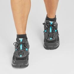 Zapatillas de montaña y trekking mujer MH100 impermeable Gris/Azul