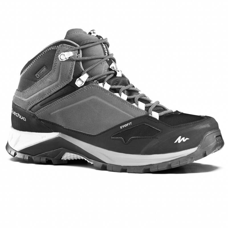 防水登山遠足鞋 - MH500 中筒 - 灰色 - 男裝