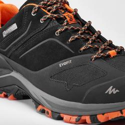 Men's waterproof mountain walking shoes MH500 - Black