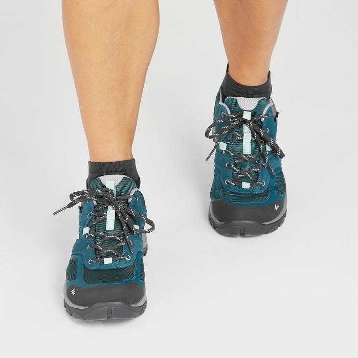 Zapatillas de senderismo montaña mujer MH100 impermeables Azul turquesa