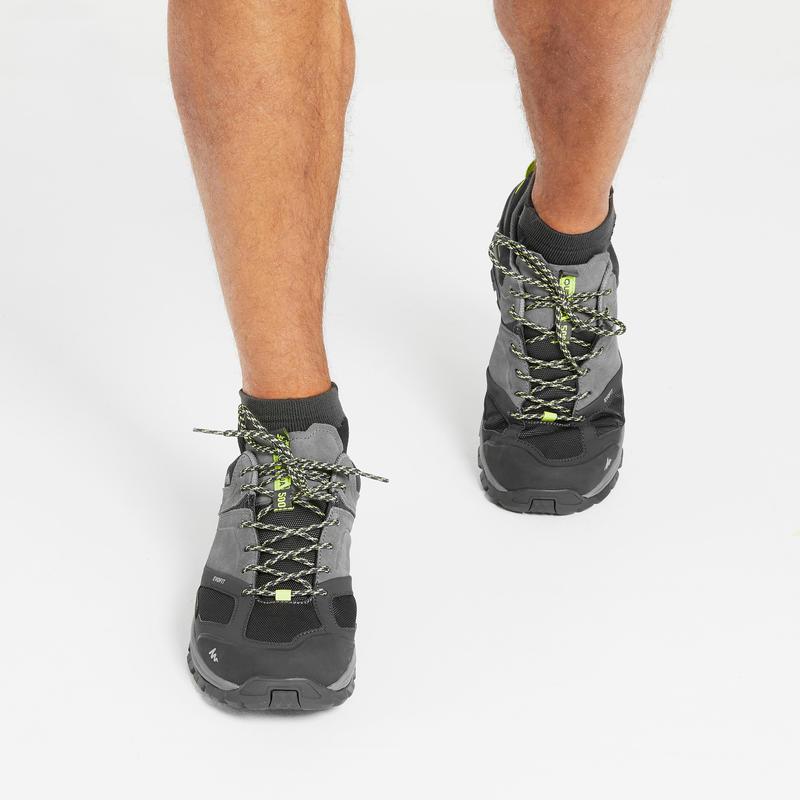 Zapatillas de senderismo montaña hombre MH500 impermeables gris