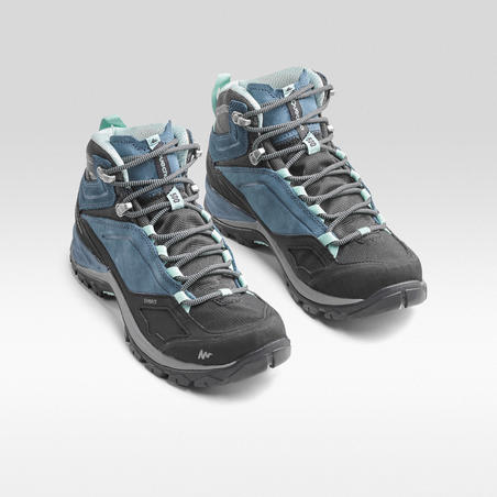 MH500 Mid waterproof mountain hiking shoes Blue - Women's