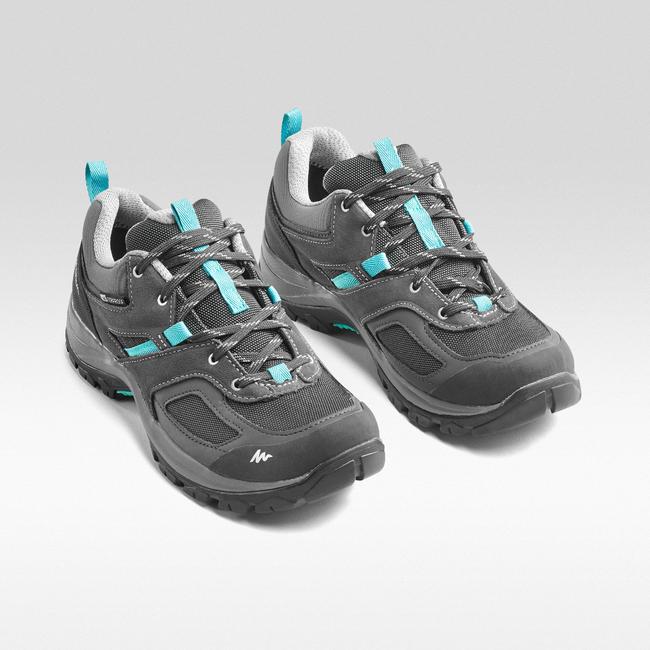 Women's Hiking Shoes WATERPROOF MH100 - Grey/Blue