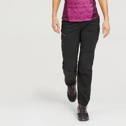 Wandelbroek voor bergtochten dames MH500 zwart