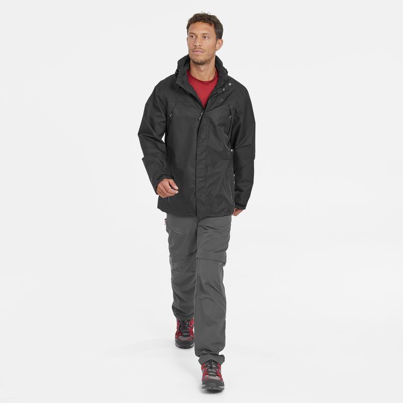 MH150 Men's Mountain Walking Zip-Off Trousers - Grey