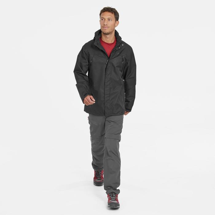 Pantalón Desmontable de Montaña y Trekking Quechua MH150 Hombre Gris