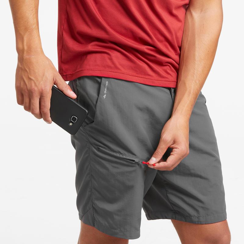 Pantalón corto Senderismo en la montaña MH100 hombre Gris
