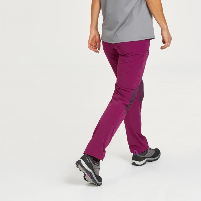 Lange wandelbroek voor dames MH500 paars