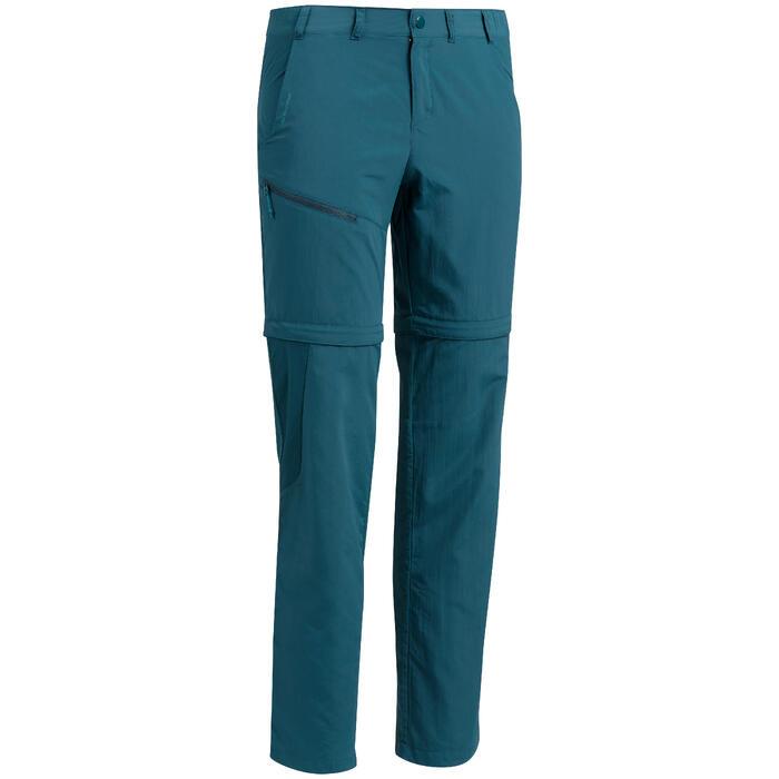 Pantalón transformable de senderismo MH150 hombre azul