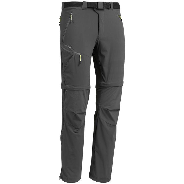 男款可變式登山健行長褲MH550-灰色
