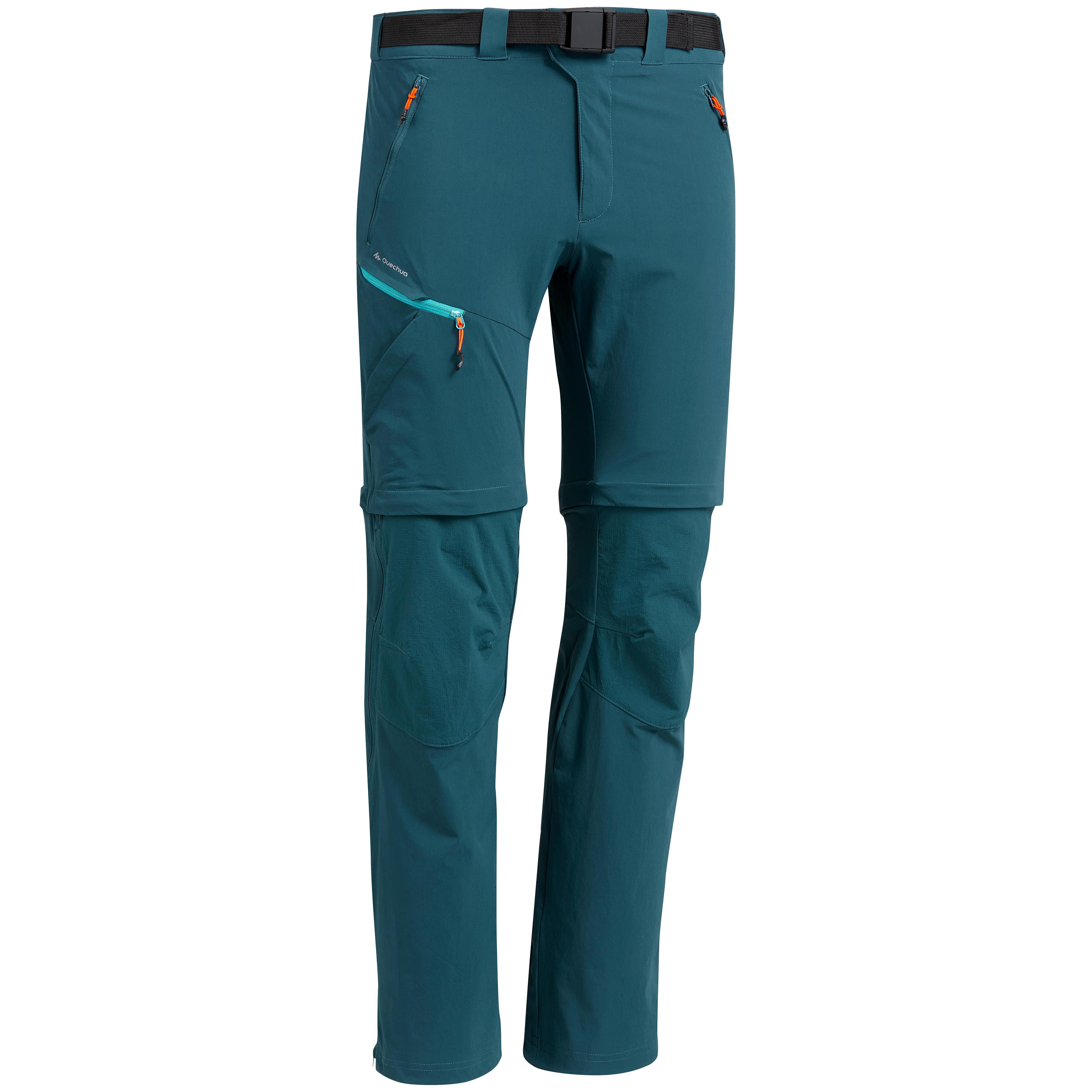 Herren Zip-Off-Wanderhose MH550 Herren blau | 03608439449192