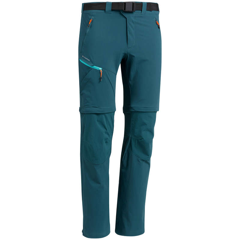 MEN MOUNTAIN HIKING TEE SHIRTS, PANTS Hiking - M Trousers MH550 Mod - Blue QUECHUA - Hiking Clothes