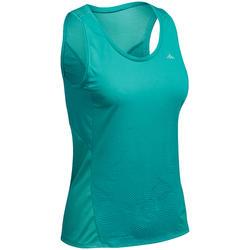 Camiseta de senderismo montaña Mujer MH500 Azul caribe