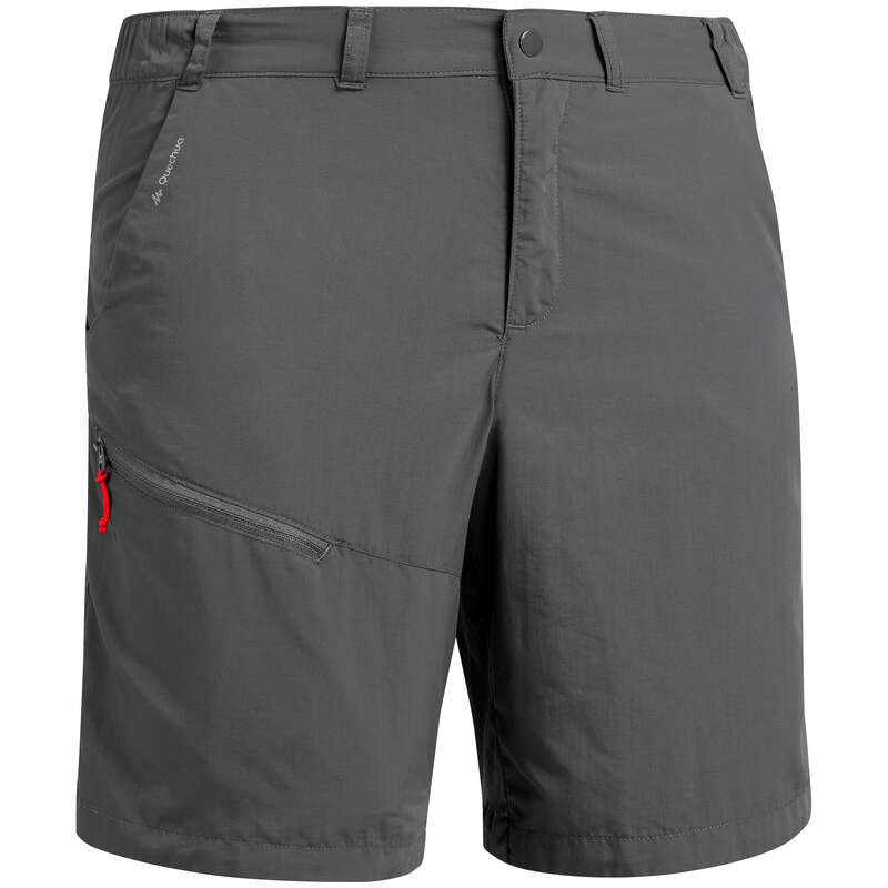 MEN MOUNT HIK SHORT, PANTACOURT WARM W Hiking - Men's Shorts MH100 - Grey QUECHUA - Hiking Clothes