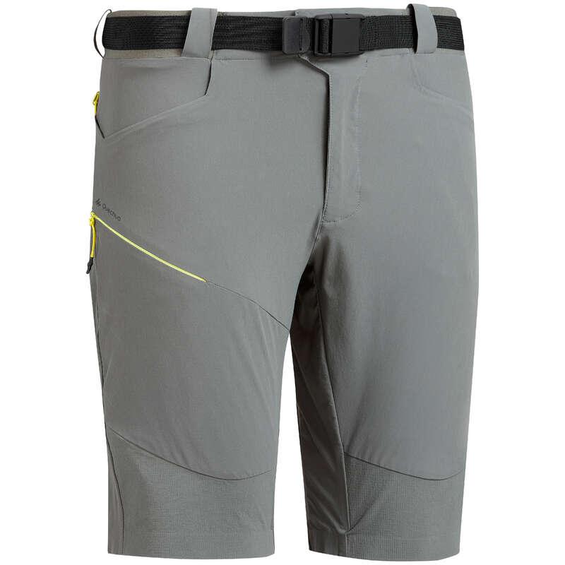 MEN MOUNT HIK SHORT, PANTACOURT WARM W Hiking - M shorts MH500 Long Khaki Grey QUECHUA - Hiking Clothes
