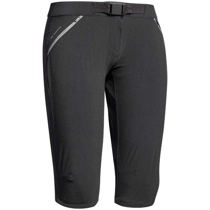 Women's cropped mountain walking trousers MH500
