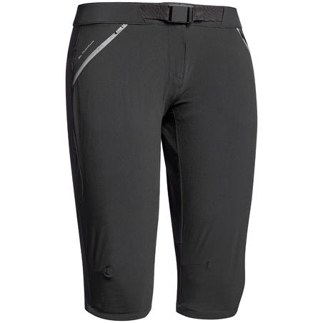 Women's MH500 mountain walking Capri pants - Black