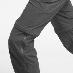 Pantalón Desmontable de Montaña y Trekking Quechua MH550 Hombre Gris