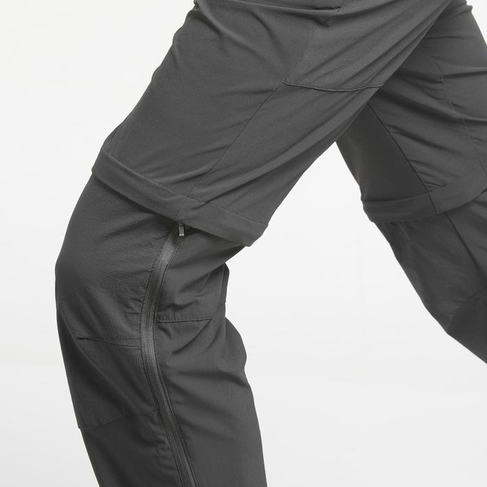 Pantalon de randonnée montagne MH550 modulable homme gris