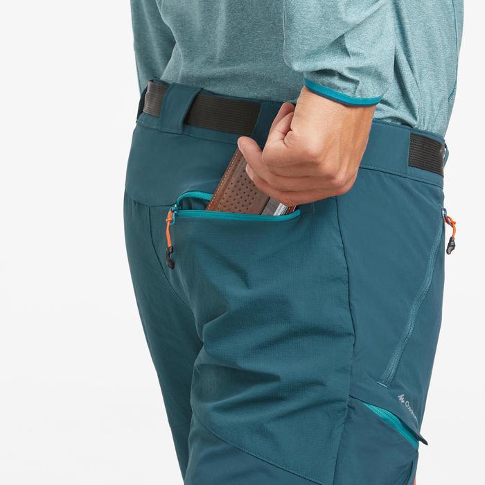 Pantalón de senderismo en montaña MH550 modulable hombre azul
