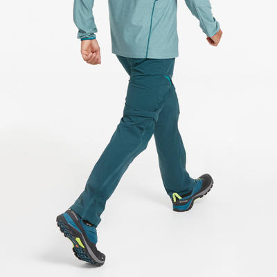 MH550 adjustable men's mountain walking trousers - blue