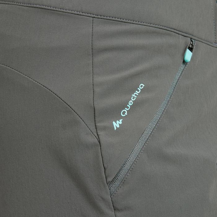 Pantalón corto de senderismo montaña Mujer MH500 Caqui