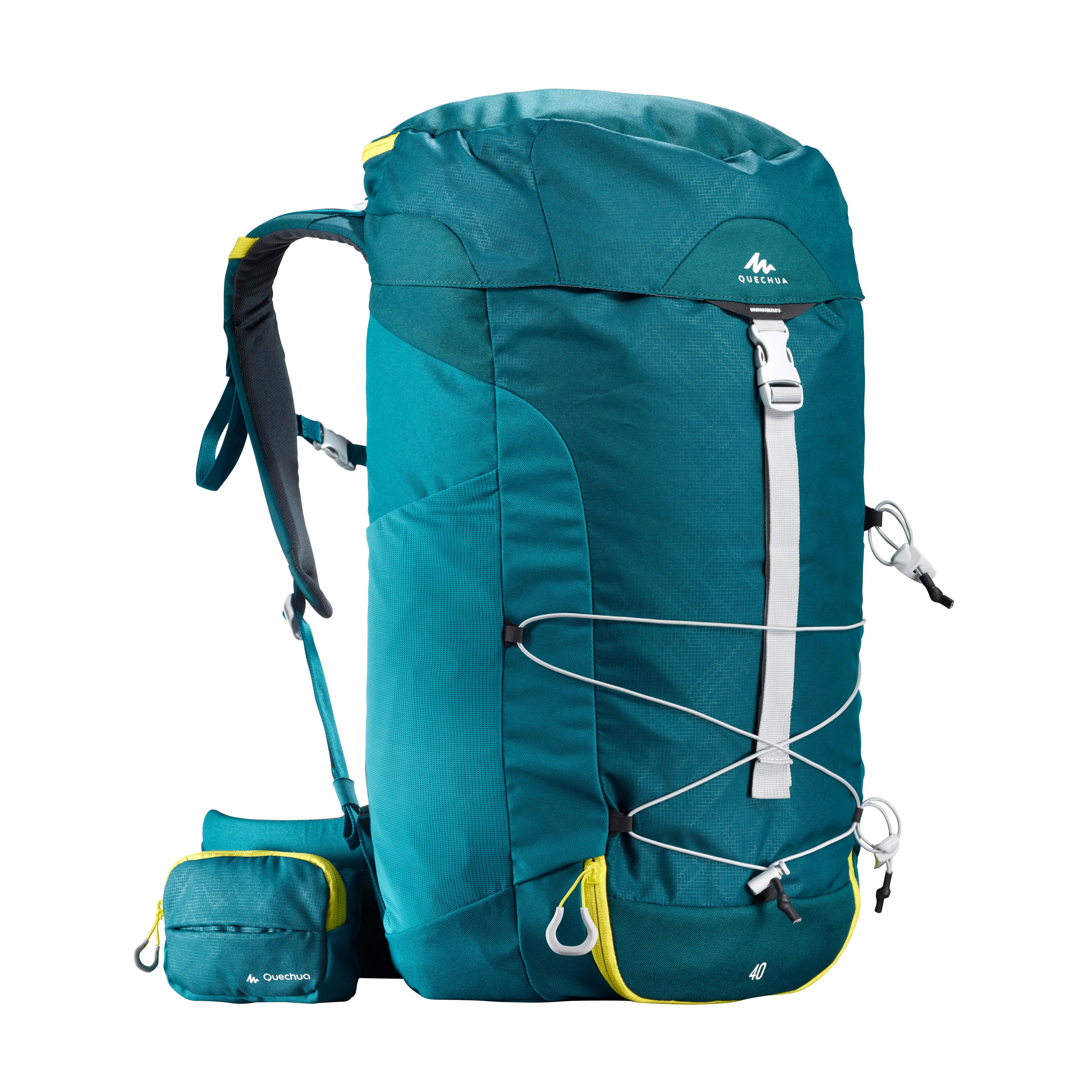 Quechua Wandelrugzak voor bergtochten MH100 40 liter blauw
