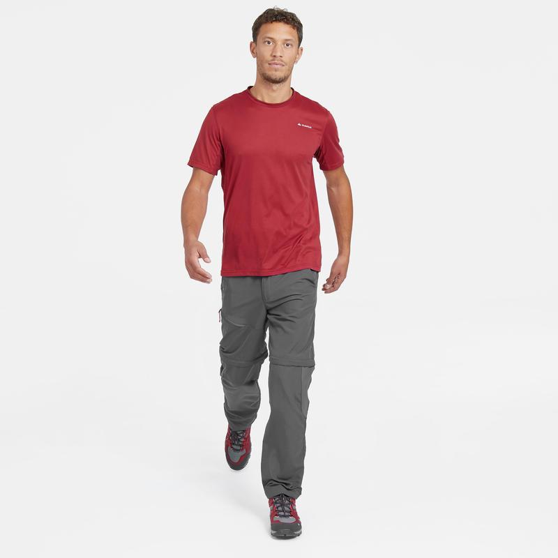 Pantalón de senderismo montaña MH150 transformable hombre gris