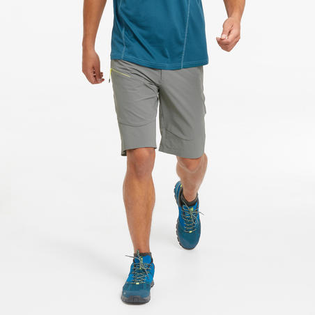 Long mountain hiking shorts - MH500 - Men