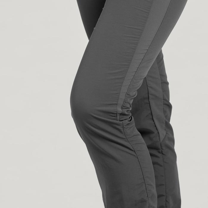 Pantalón de Montaña y Trekking Forclaz MH100 Mujer Gris