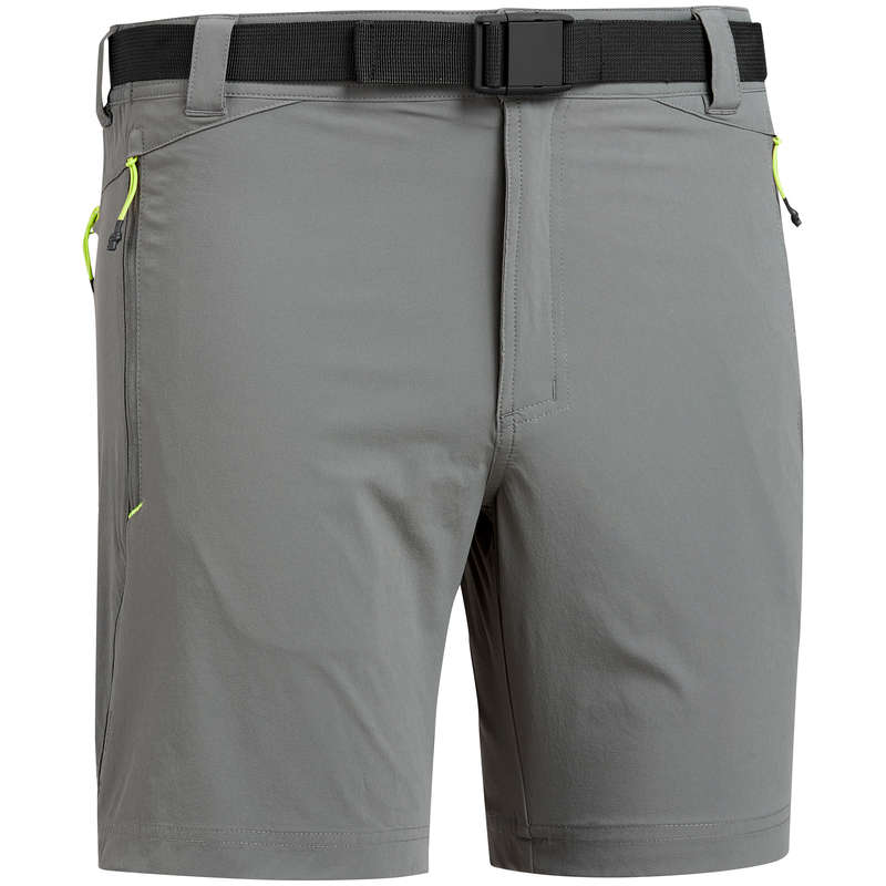 MEN MOUNT HIK SHORT, PANTACOURT WARM W Hiking - Men's Shorts MH500 - Khaki QUECHUA - Hiking Clothes