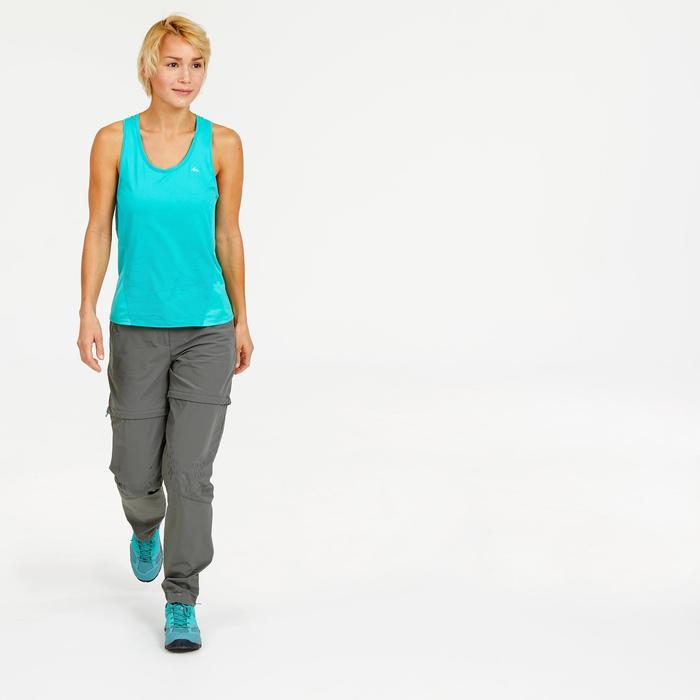 Pantalon modulable de randonnée montagne Femme MH550 Kaki
