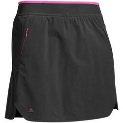 Wanderrock Hosenrock Shorts Bergwandern MH500 Damen schwarz