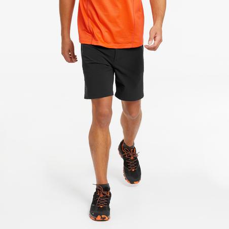 Чоловічі шорти MH500 для гірського туризму - Чорні