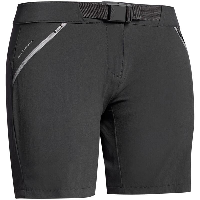 Short voor bergwandelen dames MH500 zwart
