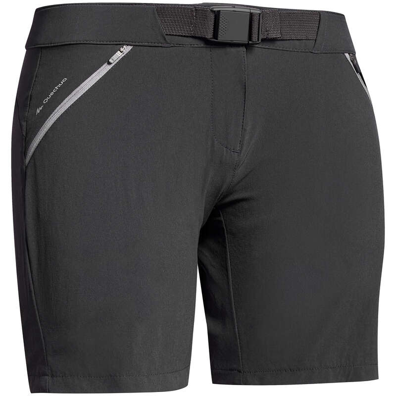 WOMEN MOUNT HIK SHORT, CORSAIR WARM W Hiking - Women's SHORTS MH500 BLACK QUECHUA - Hiking Clothes