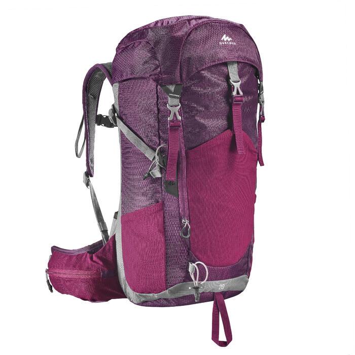c8994960e Mochila de Montaña y Trekking MH500 20 Litros Mujer Violeta Quechua ...