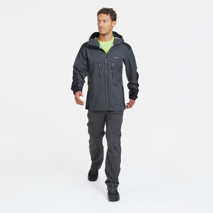 Pantalón de senderismo en montaña MH550 modulable hombre gris