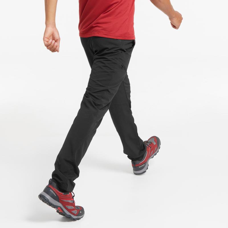 Pantalón de senderismo montaña MH100 hombre negro