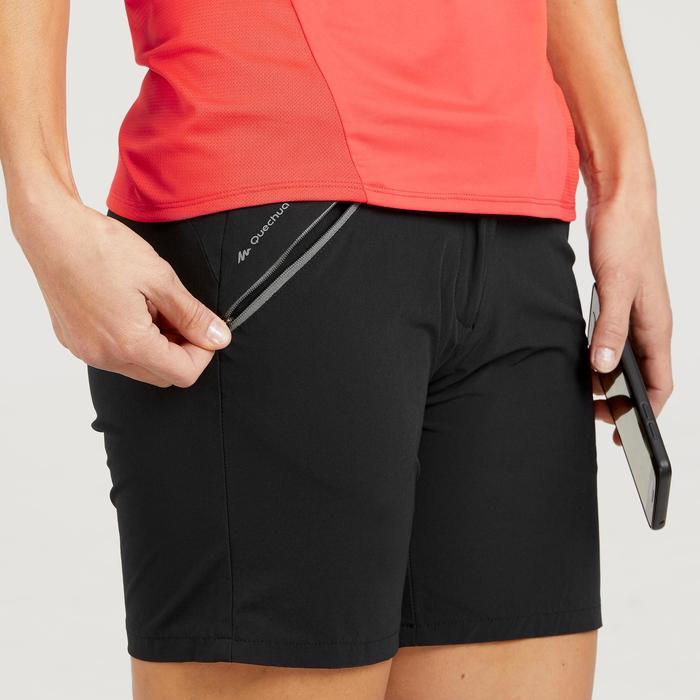 Pantalón corto de senderismo en montaña MH500 mujer negro