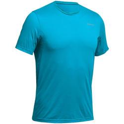 Men's Mountain Walking Short-Sleeved T-Shirt MH100 - Turquoise