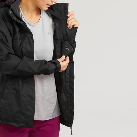 Chamarra ligera impermeable de senderismo montaña - MH100 - Mujer